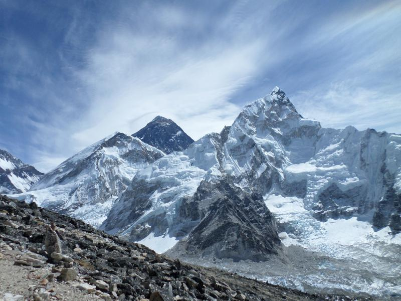 Everest view from Kalapathar during trek