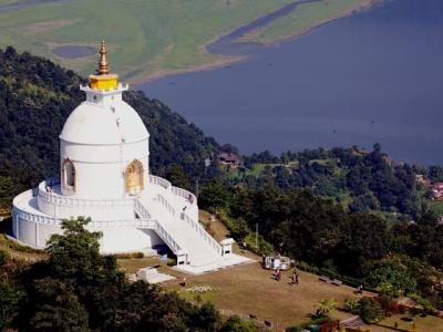 Peace Stupa Pokhara: Pokhara View point