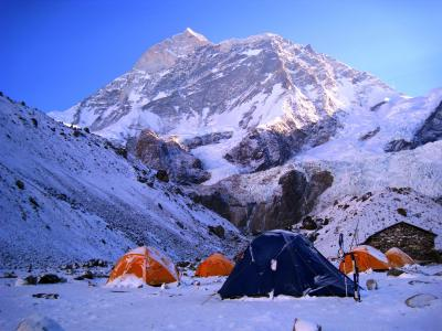 View from Makalu Base Camp during trek